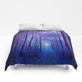 Fantasy Path Purple Blue Comforters