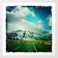 Raod to Reno Art Print