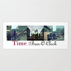 Beer-O-Clock : Art Print, Frames and Canvases Art Print