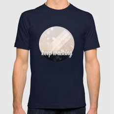 Keep walking Navy Mens Fitted Tee SMALL