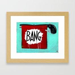 "Bang! (2011), 27"" x 37"", acrylic on gesso on chipboard Framed Art Print"