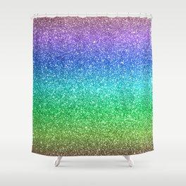 Magic Rainbow Sparkly Glitter Shower Curtain