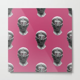 Head pink pattern Metal Print