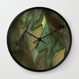 The Beginning of Autumn Abstract Wall Clock