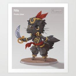 RPG Pirate Nils Art Print