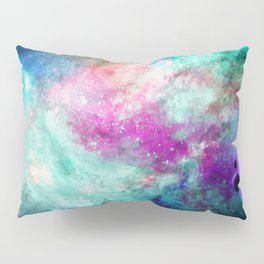 Teal Galaxy Pillow Sham