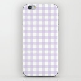 Lilac gingham pattern iPhone Skin