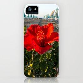 Red Beach Flower iPhone Case