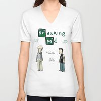 breaking bad V-neck T-shirts featuring Breaking Bad by Sophie Corrigan