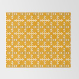 Arrowmatic Orange Throw Blanket