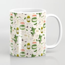 Pesto. Illustrated Recipe. Coffee Mug