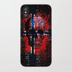 Skull circuit (norway-flag) iPhone X Slim Case
