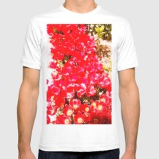 Red my color, my blood. MEDIUM White Mens Fitted Tee