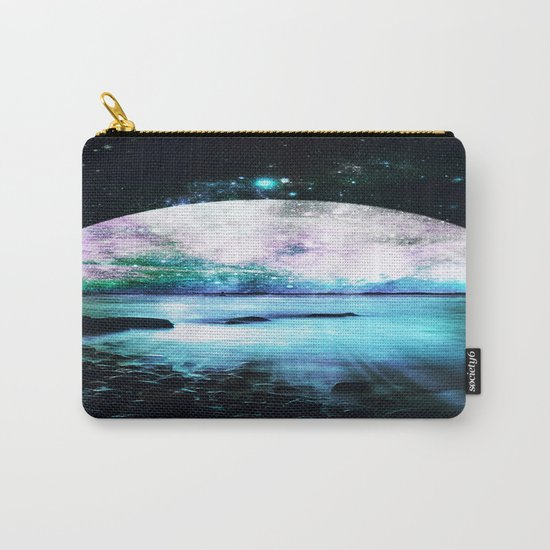 Mystic Lake Teal Violet Carry-All Pouch