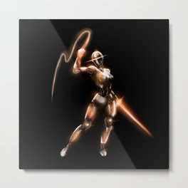 Lady Double Dealer Metal Print