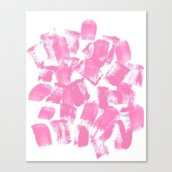 Pink Painter brushstrokes abstract minimal modern dorm college trendy boho painting monochromatic  Canvas Print