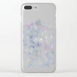 Marble Mandala - Purple Blue Rose Gold Clear iPhone Case