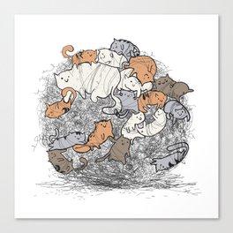 Hairball Buddies Canvas Print