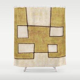 Protoglifo 06 'Mustard traverse cream' Shower Curtain