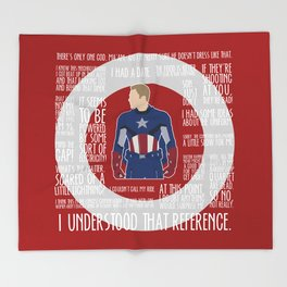 The First Avenger Throw Blanket