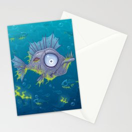 Zombie Fish Stationery Cards
