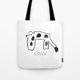 My Cow Drawing Tote Bag