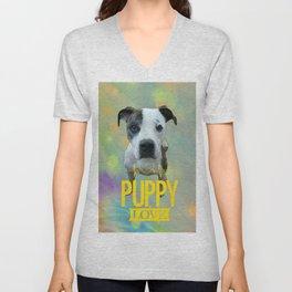 Jess Puppy Love Unisex V-Neck