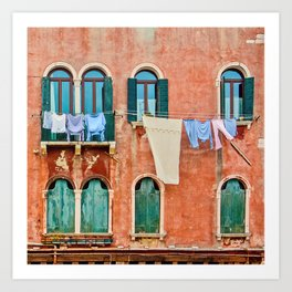 Dirty Laundry in Venice Art Print