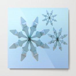 Snowflakes (light blue) Metal Print