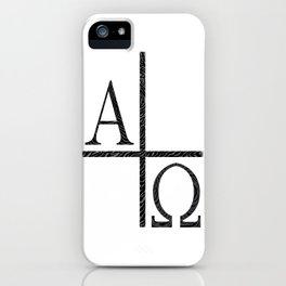 Alpha Omegs Icon Image iPhone Case