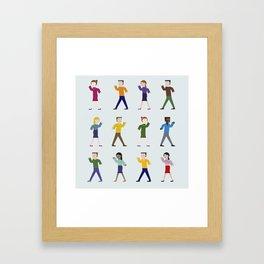 Dance like an egyptian Framed Art Print
