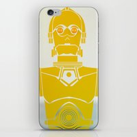 c3po iPhone & iPod Skins featuring StarWars C3PO by Joshua A. Biron