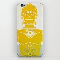 starwars iPhone & iPod Skins featuring StarWars C3PO by Joshua A. Biron