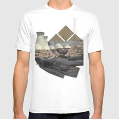 The future a time to reminisce. (mixed media) White MEDIUM Mens Fitted Tee