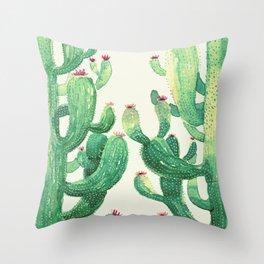 two big cactus Throw Pillow