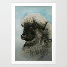 A Tribute to Luca (a Shiloh Shepherd) Art Print