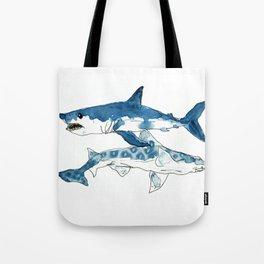 Mako & Leopard Shark Tote Bag