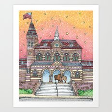 Chapel Hall Gallaudet University Art Print