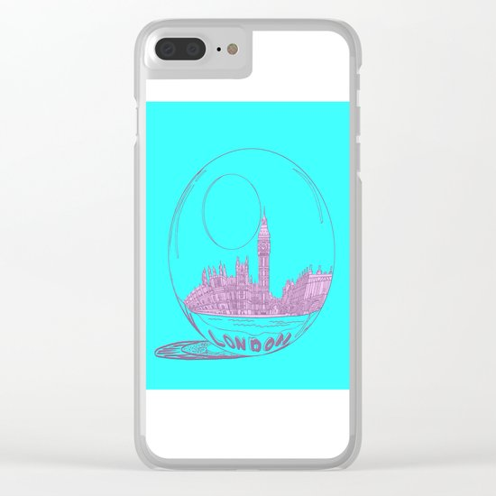 pink London Clear iPhone Case