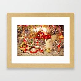 Christmas Tea Framed Art Print