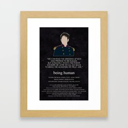 Being Human - Hal Yorke (Soldier edition) Framed Art Print