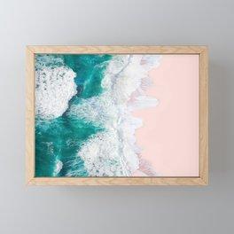 Pink Sand Beach Framed Mini Art Print
