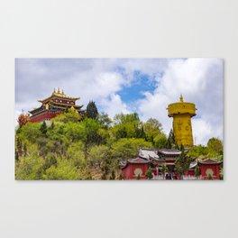 Giant tibetan prayer wheel Canvas Print