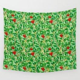 William Morris Lychee Tree Pattern, Light Jade Green Wall Tapestry