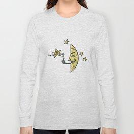 Smoking Moon Long Sleeve T-shirt