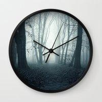 tree of life Wall Clocks featuring tree by mark ashkenazi