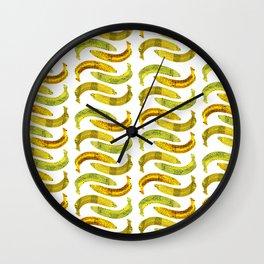 Banana Madura - White BG Wall Clock