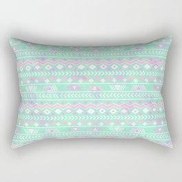 Pink teal watercolor tribal geometrical pattern Rectangular Pillow