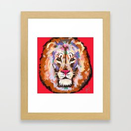 STAY STRONG AND CURIOUS Framed Art Print