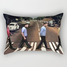 Boldly going on Abbey Road Rectangular Pillow